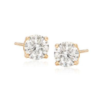 1.00 ct. t.w. Diamond Stud Earrings in 18kt Yellow Gold, , default