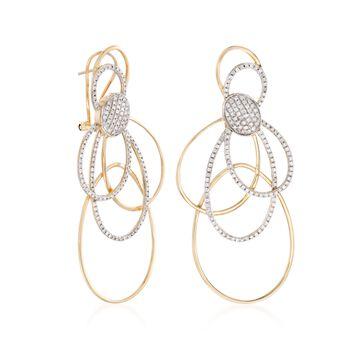 1.15 ct. t.w. Diamond Multi-Loop Drop Earrings in 14kt Yellow Gold