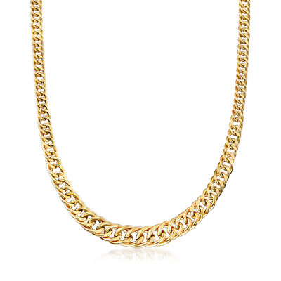 Italian 14kt Yellow Gold Link Necklace, , default