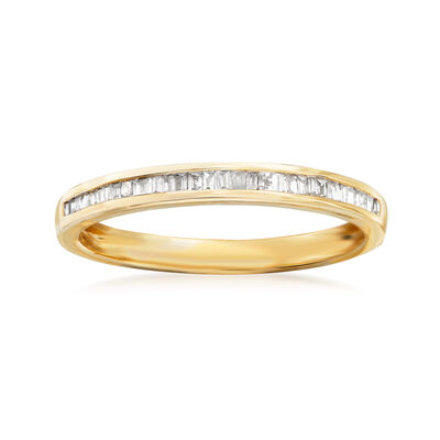 .15 ct. t.w. Baguette Diamond Ring in 14kt Yellow Gold, , default