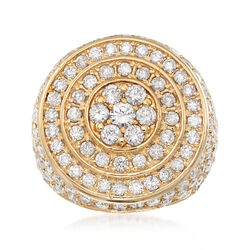 C. 1980 Vintage 2.75 ct. t.w. Diamond Circle Ring in 14kt Yellow Gold, , default