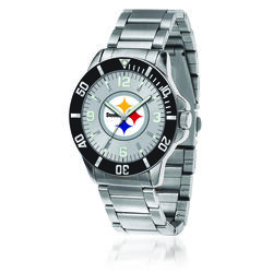 Men's 46mm NFL Pittsburgh Steelers Stainless Steel Key Watch, , default
