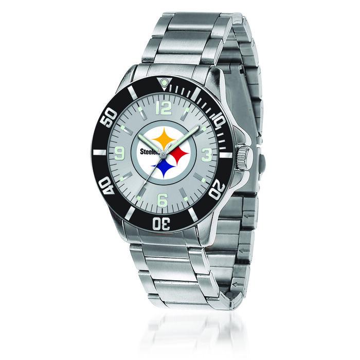 Men's 46mm NFL Pittsburgh Steelers Stainless Steel Key Watch, , default