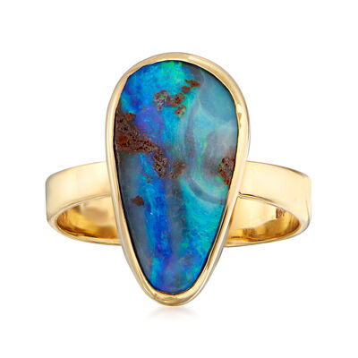 C. 1970 Vintage Opal Ring in 14kt Yellow Gold, , default