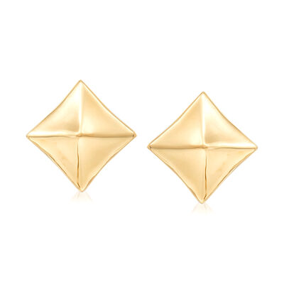 Italian Diamond-Shaped Earrings in 18kt Yellow Gold