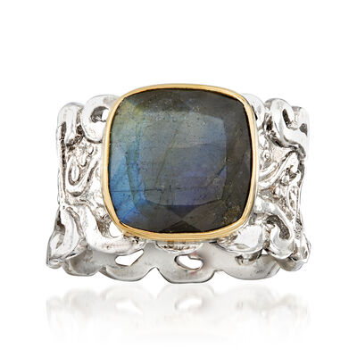Labradorite Openwork Ring in Sterling Silver, , default