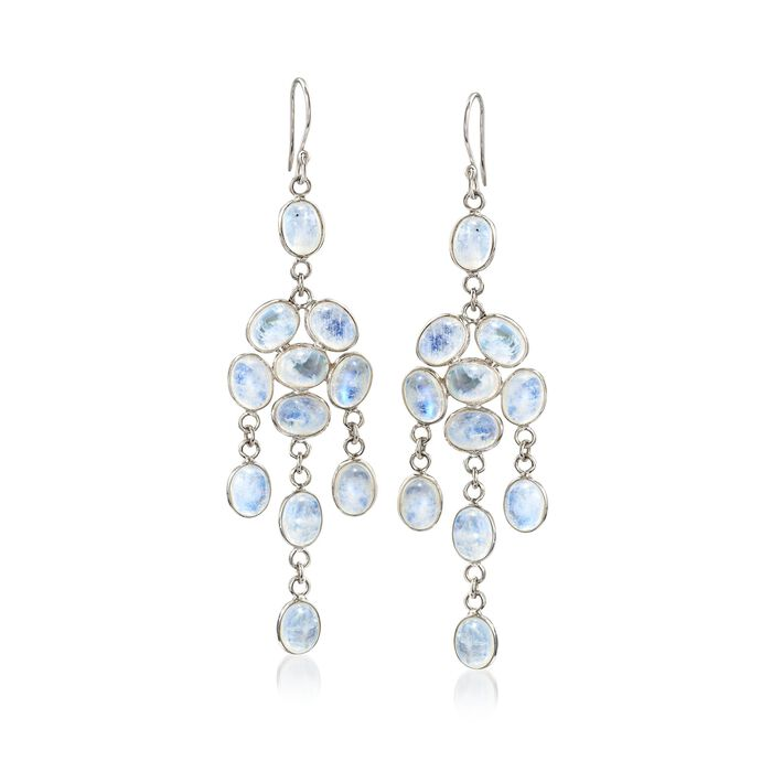 Moonstone Chandelier Drop Earrings in Sterling Silver, , default