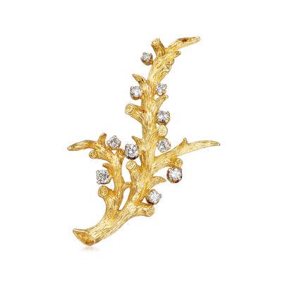 C. 1980 Vintage .50 ct. t.w. Diamond Branch Pin, , default