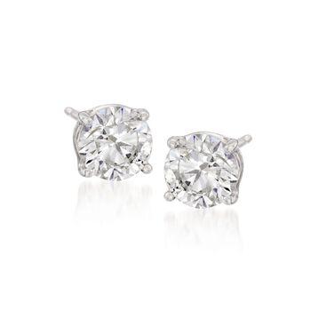 2.00 ct. t.w. CZ Stud Earrings in Sterling Silver, , default