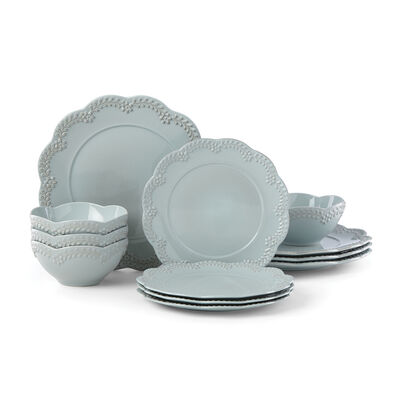 "Lenox ""Chelse Muse"" Floral Blue Ironstone Dinnerware Set , , default"