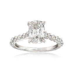 Henri Daussi 1.71 ct. t.w. Certified Diamond Ring in 18kt White Gold, , default