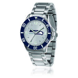 Men's 46mm NFL Seattle Seahawks Stainless Steel Key Watch, , default