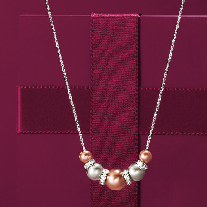 .37 ct. t.w. Diamond Spacer Necklace in Two-Tone