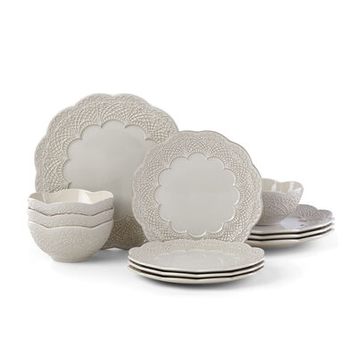 "Lenox ""Chelse Muse Grey"" 12-pc. Dinnerware Set, , default"