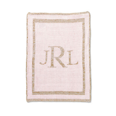 Child's Butterscotch Blankees Personalized Metallic Classic Monogram Blanket, , default