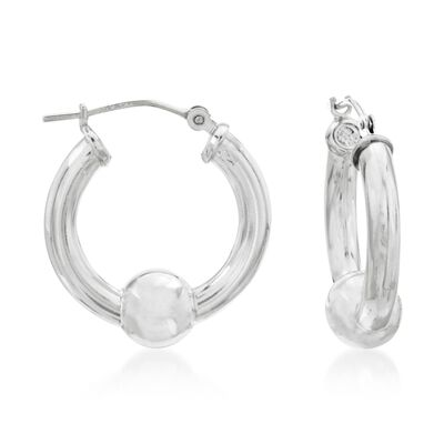 Cape Cod Jewelry Sterling Silver Hoop Earrings, , default