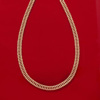 "14kt Yellow Gold Two-Row Curb-Link Necklace. 20"", , default"