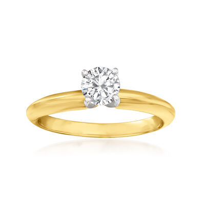 .45 Carat Diamond Solitaire Ring in 14kt Yellow Gold
