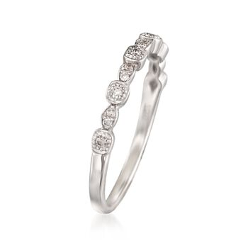 "ALOR ""Flamme Blanche"" .10 ct. t.w. Diamond Ring in 18kt White Gold, , default"
