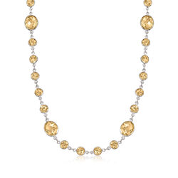 50.00 ct. t.w. Citrine Necklace in Sterling Silver, , default