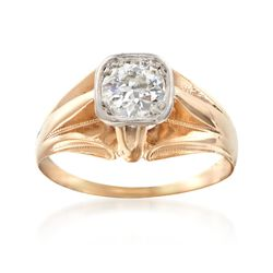 C. 1960 Vintage .60 Carat Diamond Ring in 14kt Yellow Gold. Size 6, , default