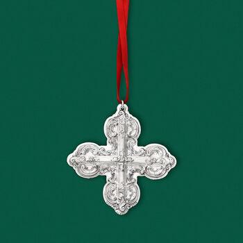 """Wallace 2019 Annual """"Grande Baroque"""" Sterling Silver Cross Ornament - 24th Edition"""
