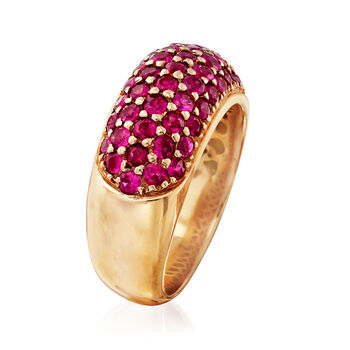 C. 1980 2.70 ct. t.w. Ruby Ring in 18kt Yellow Gold. Size 6.5, , default