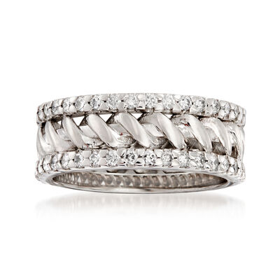1.08 ct. t.w. Diamond Wedding Band in 14kt White Gold, , default