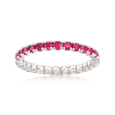 .97 ct. t.w. Ruby Stackable Eternity Band in Sterling Silver, , default