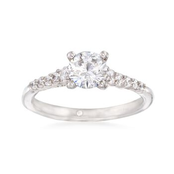 Gabriel Designs .26 ct. t.w. Diamond Engagement Ring Setting in 14kt White Gold, , default