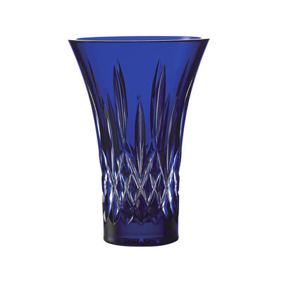 "Waterford Crystal ""Treasures of the Sea"" Lismore Blue Flared Vase"