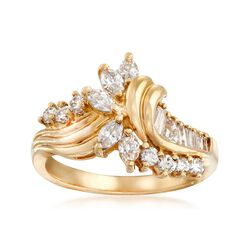 C. 1990 Vintage .65 ct. t.w. Diamond Ring in 14kt Yellow Gold. Size 5.5, , default