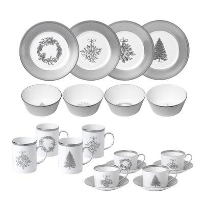 """Wedgwood """"Winter White"""" Dinnerware Set"""