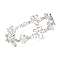 "Zina Sterling Silver ""Tiki"" Multi-Flower Bracelet. 7.5"", , default"