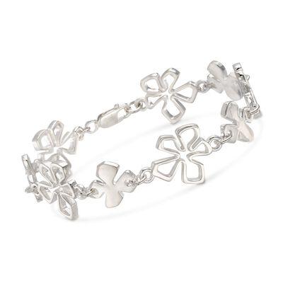 "Zina Sterling Silver ""Tiki"" Multi-Flower Bracelet, , default"