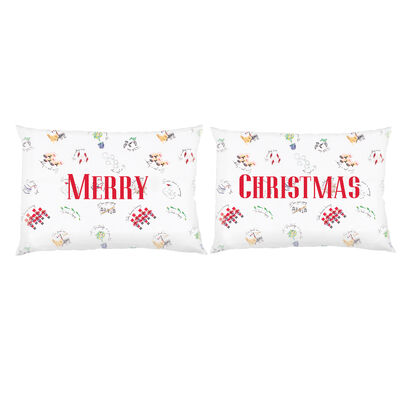 Set of 2 Twelve Days of Christmas Pillowcases, , default