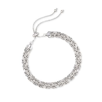 Sterling Silver Byzantine Bolo Bracelet, , default