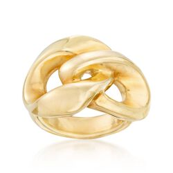 Italian 18kt Gold Over Sterling Silver Link Ring, , default