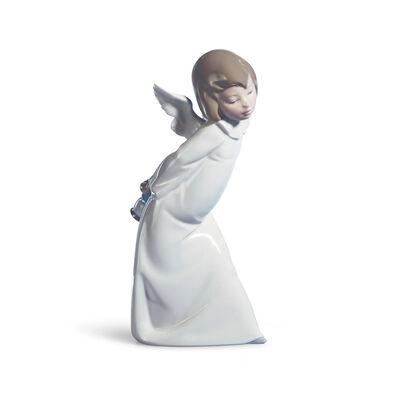 "Lladro ""Cherub Smiling"" Porcelain Figurine, , default"