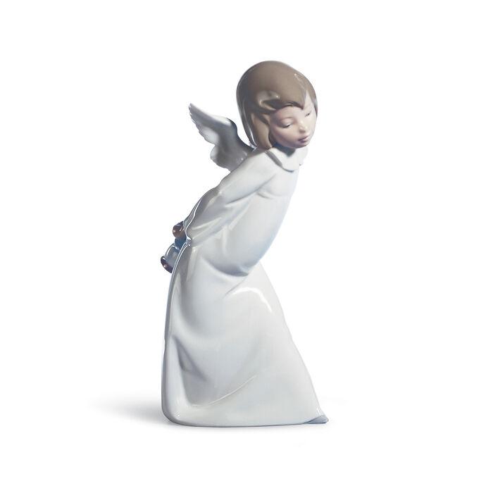 "Lladro ""Cherub Smiling"" Porcelain Figurine , , default"