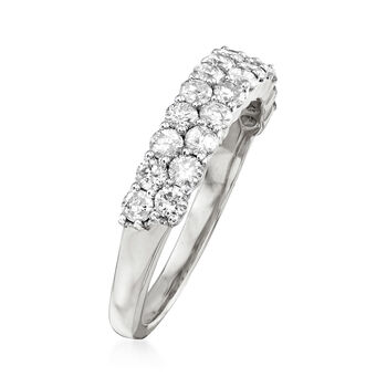 1.00 ct. t.w. Diamond Double-Row Ring in 14kt White Gold, , default
