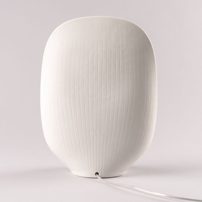 Lladro White and Gold Porcelain Mirage Table Lamp