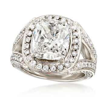 Majestic Collection 6.18 ct. t.w. Certified Diamond Ring in Platinum. Size 6, , default