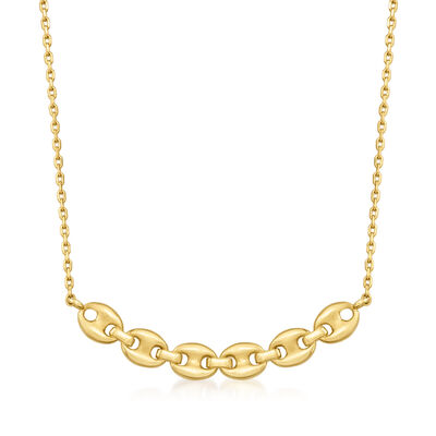 14kt Yellow Gold Mariner-Link Necklace