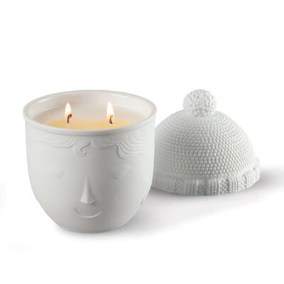 "Lladro ""Winter Lane"" Porcelain Candle"