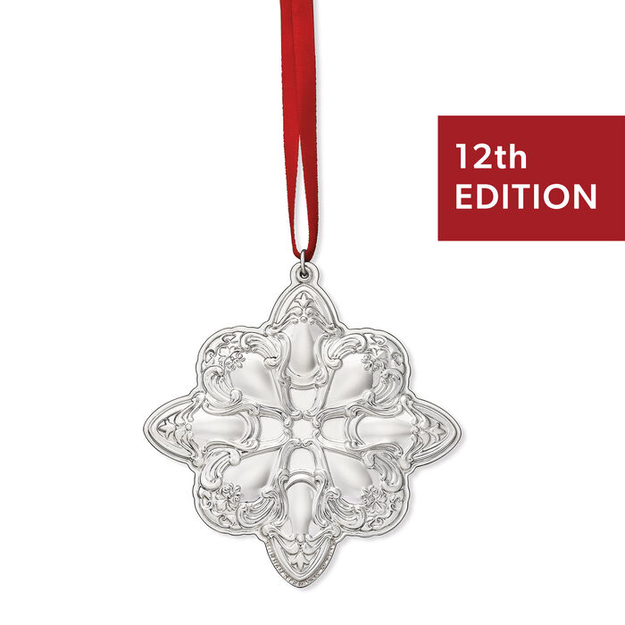 Gorham 2019 Annual Sterling Silver Chantilly Star Ornament - 12th Edition, , default