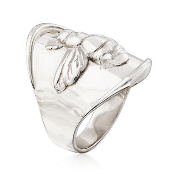 Italian Sterling Silver Bee Ring, , default
