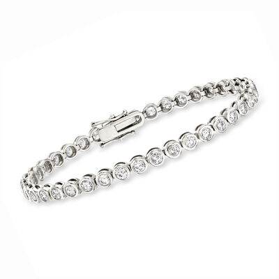 5.00 ct. t.w. Bezel-Set Diamond Tennis Bracelet in 14kt White Gold