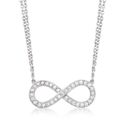 .25 ct. t.w. CZ Infinity Necklace in Sterling Silver, , default