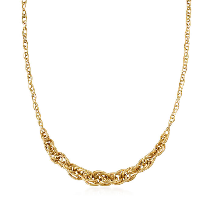14kt Yellow Gold Graduated Link Necklace